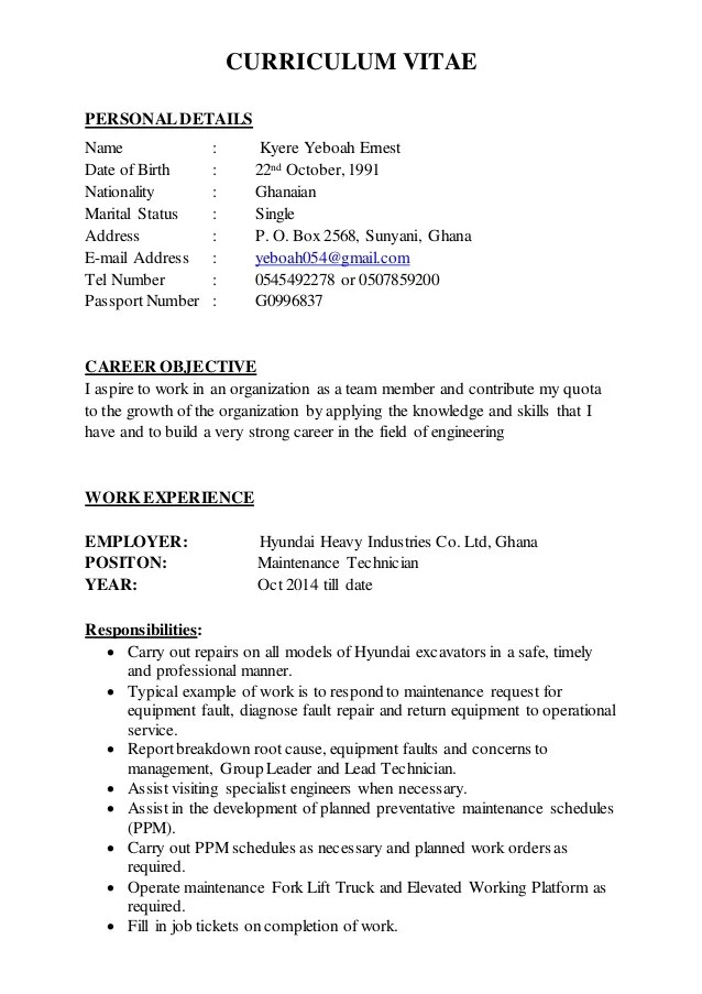 how to search work cv example