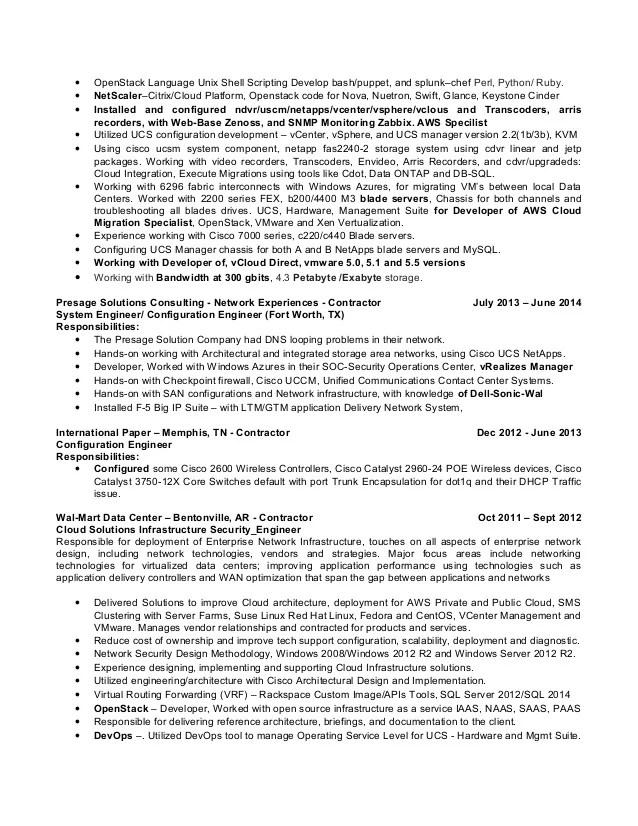 shell scripting resume sample