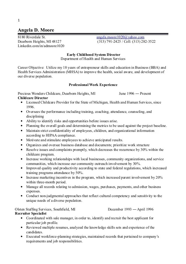 special education director resume sample