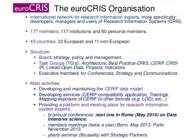 The Cris Repository Connection Possibilities And Values