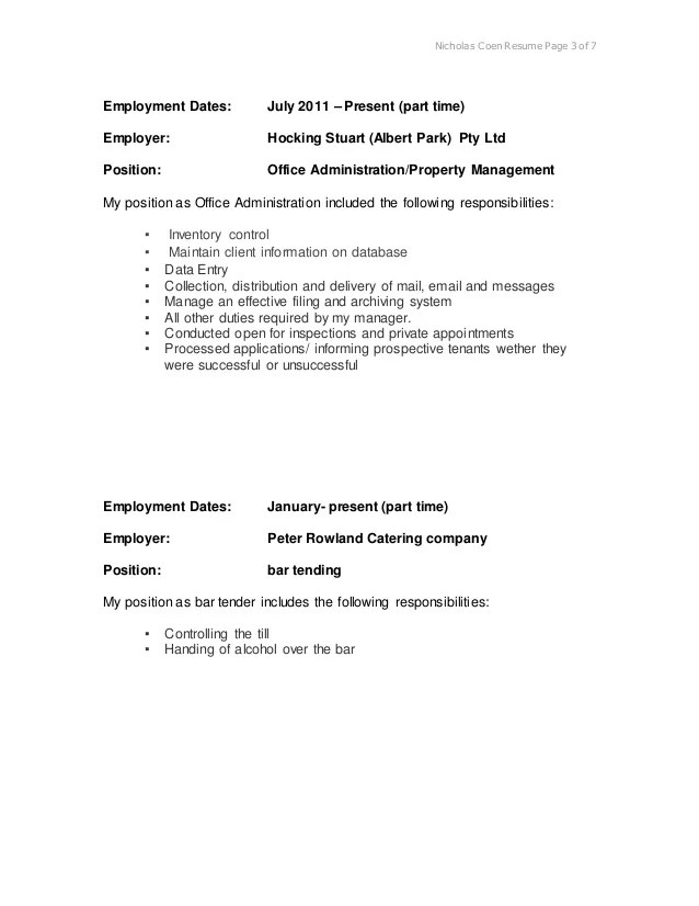 employment dates on resume - Canasbergdorfbib