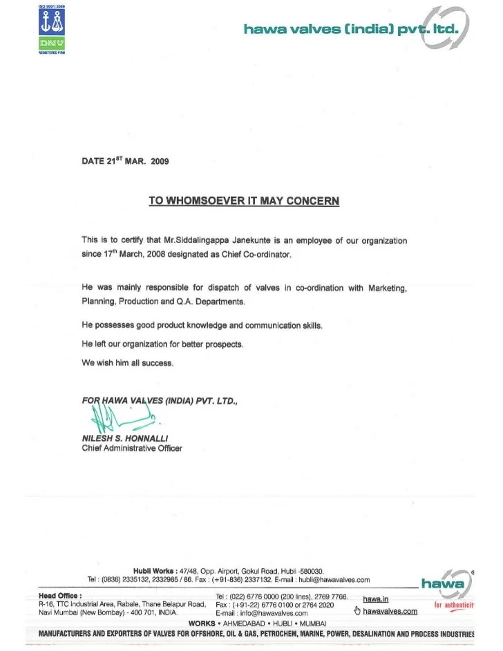 Application Letter Sample Experience Certificate Resume Pdf Download