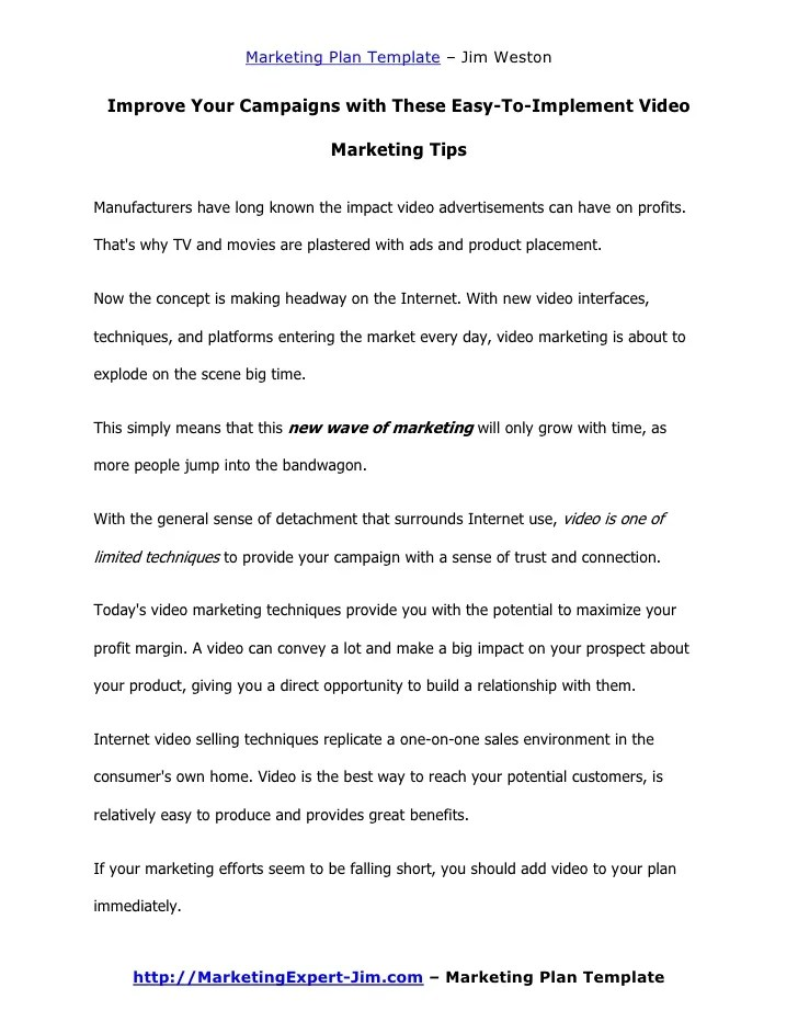 marketing plan proposal - Goalgoodwinmetals