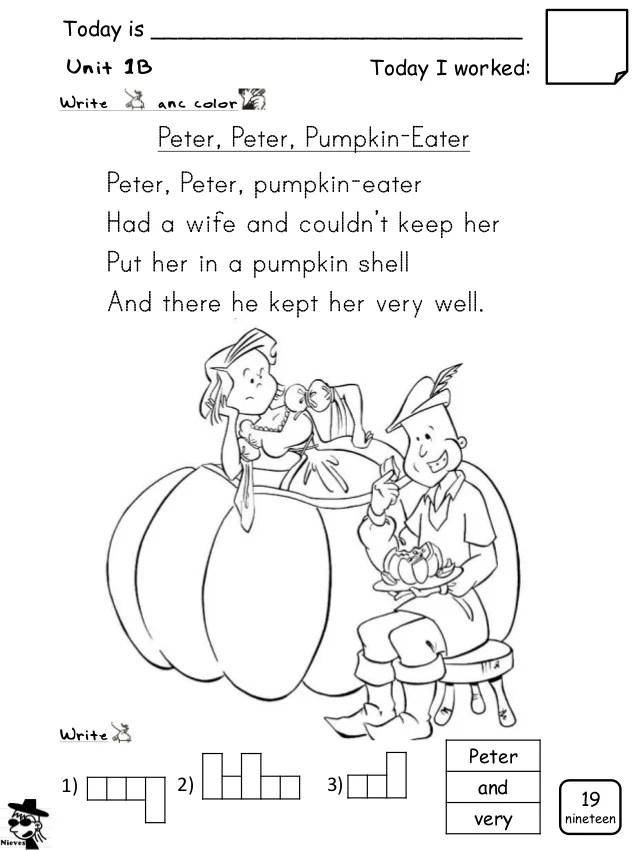 Peter Peter Pumpkin Eater Coloring Page - Eskayalitim