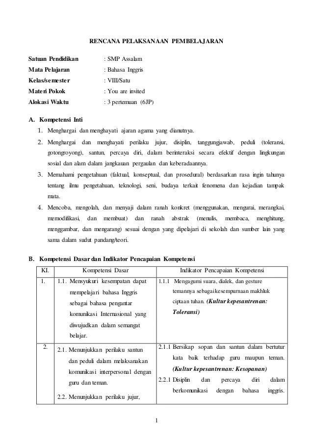 Rpp Bahasa Inggris Contoh Silabus Dan Rpp Ktsp Bahasa Inggris Kls 8 Semester Rpp Bahasa Inggris Kelas 8 Kurikulum 2013 Terbaru Chapter 4
