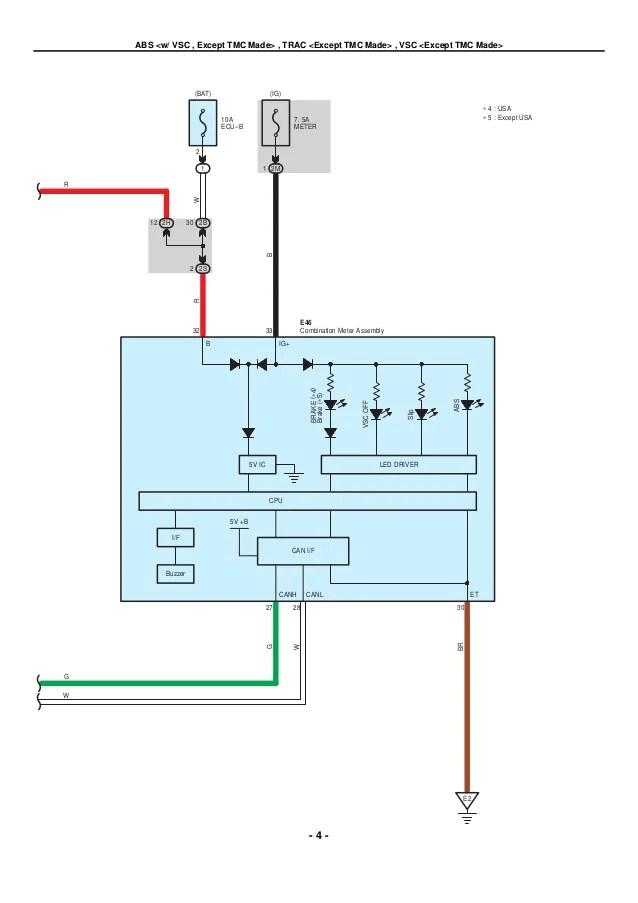 electrical wiring diagram toyota corolla 2007