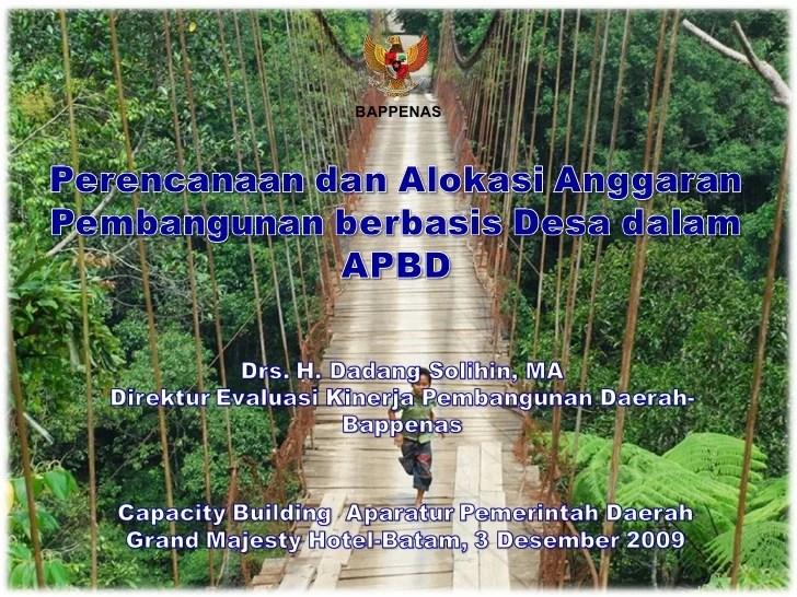 Uu Desa Terbaru Desa Wikipedia Bahasa Indonesia Ensiklopedia Bebas Perencanaan Dan Alokasi Anggaran Pembangunan Berbasis Desa Dalam Apbd