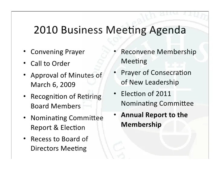 church business meeting agenda - Onwebioinnovate