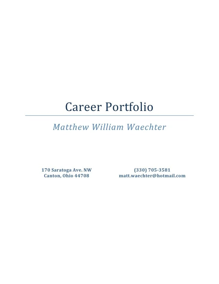 resume portfolio cover page - Towerssconstruction
