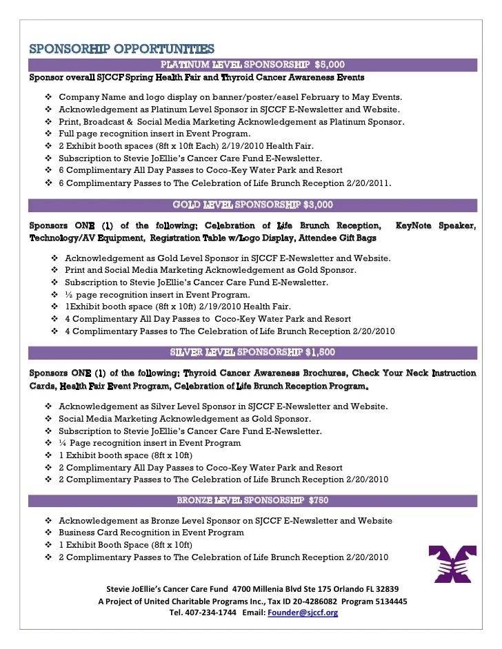 Sponsorship Letter Sample Format Writing Tips 2011 Health Fair Sponsorship Proposal
