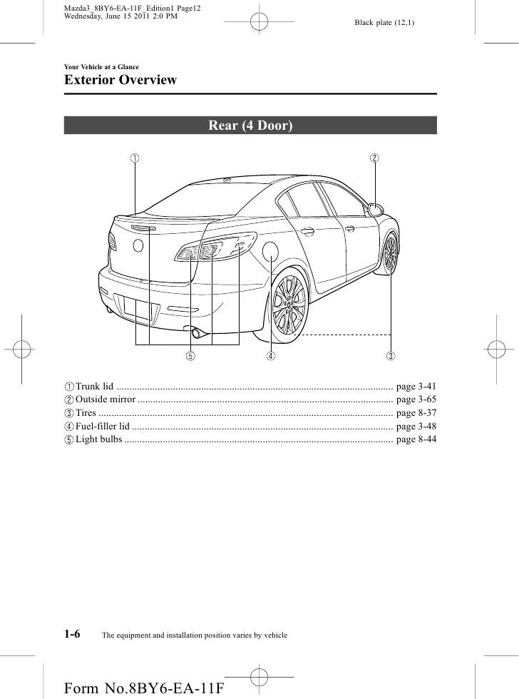 2011 mazda 6 i sport wire diagram