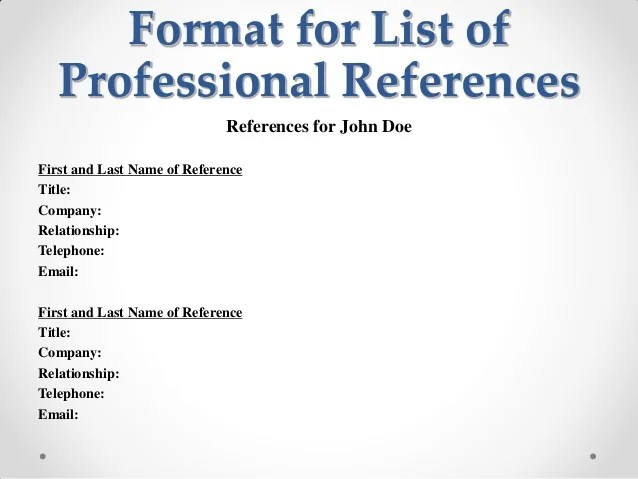 how to list professional references - Alannoscrapleftbehind - professional reference list