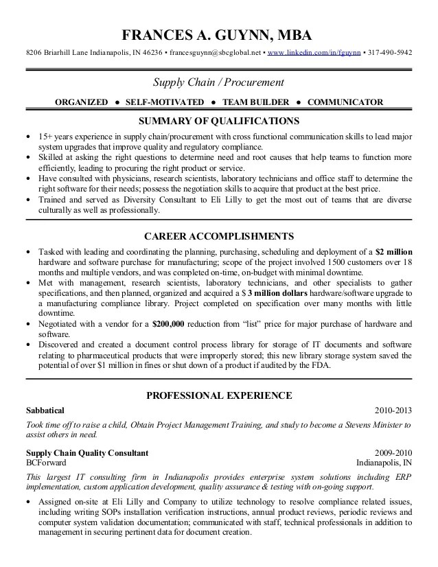 supply chain resume sample doc supply chain manager resume workbloom 2013 supply chain procurement resume - Procurement Resume Sample
