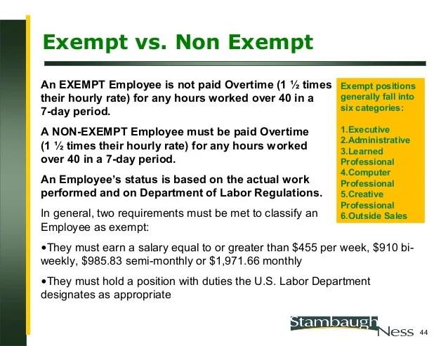 exempt status definition