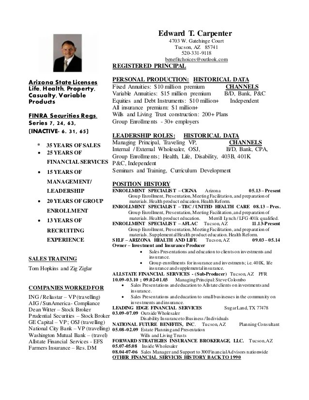 example of benefits specialist resume