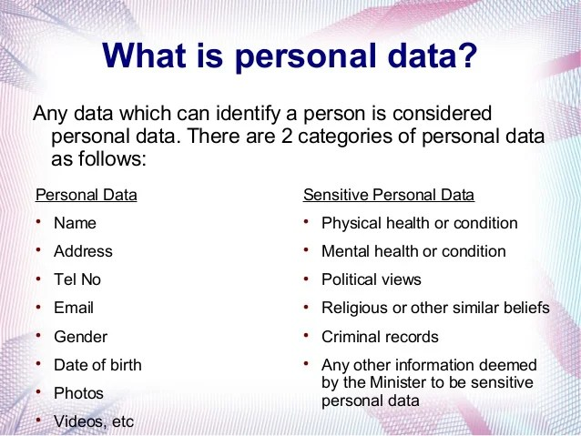 Personal Data Protection in Malaysia