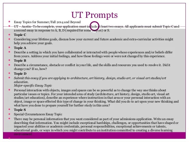 Ut Austin Essay Help Sat Act Prep Online Guides And Tips