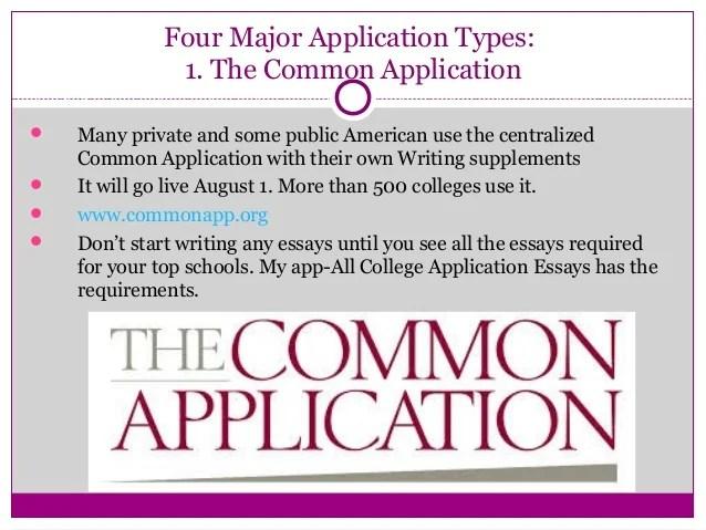 commonapp essays