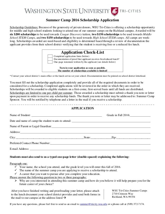 scholarship application forms - Selol-ink - scholarship form