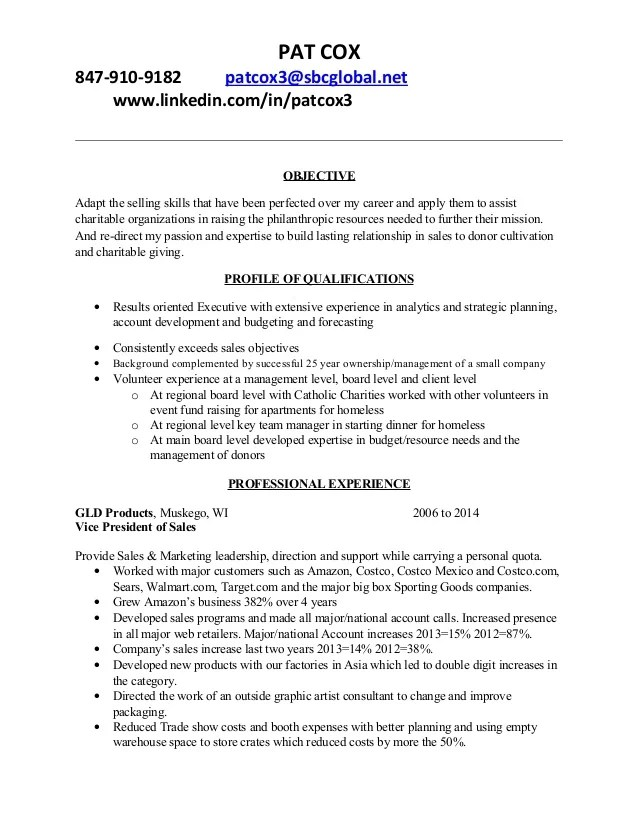 resume objective for non profit examples
