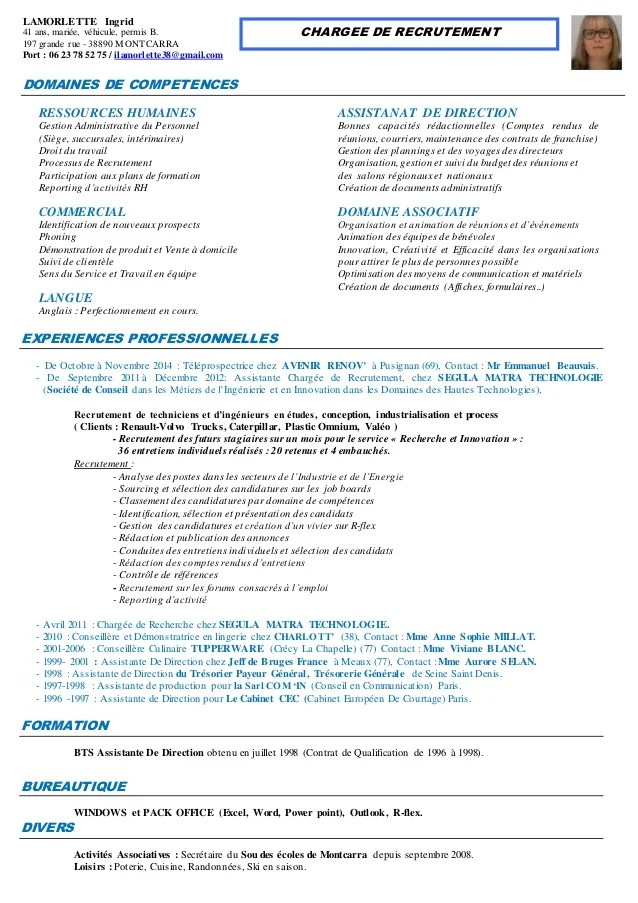 exemple de cv consultant en recrutement