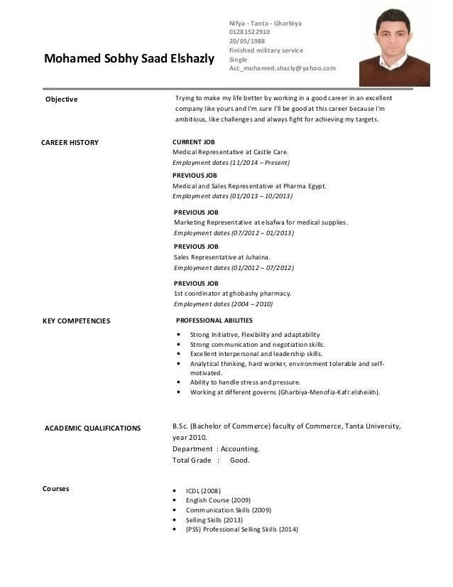 Webtech Resume Professional Resume Writing Service Cv Mohamed Elshazly Medical Rep