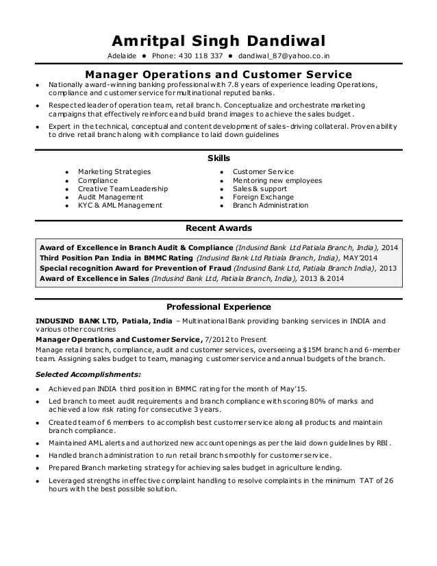 audit operation manager resume - Onwebioinnovate - bank branch manager resume