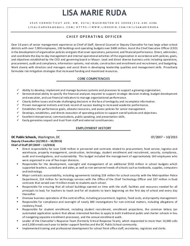 coo resume - Romeolandinez - coo resume