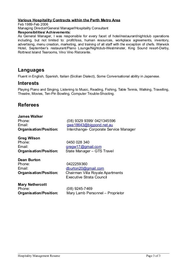 resume consultant perth