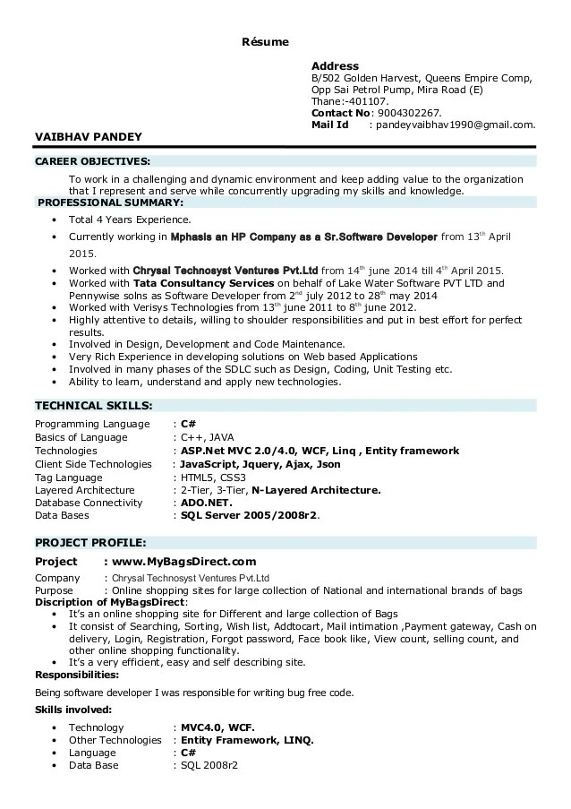 resume notes template