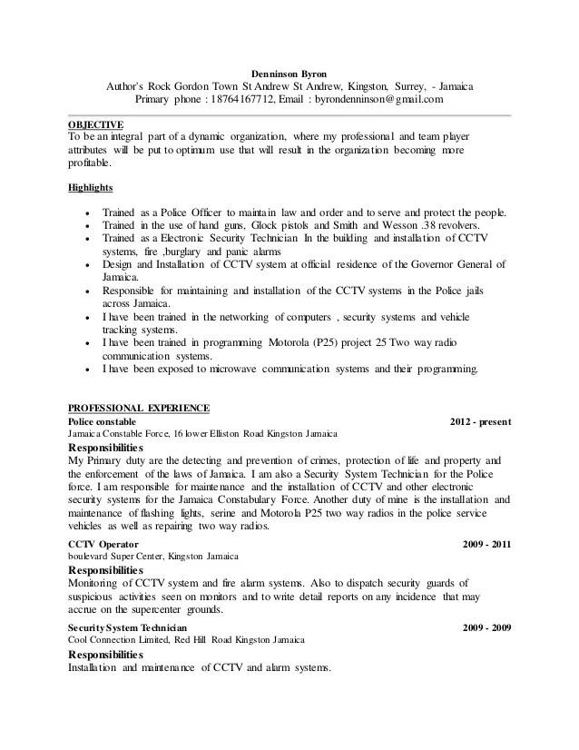 resume in canada example