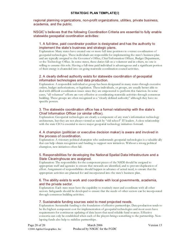 Writing A Good Executive Summary Strategic Planning 25 Strategic Plan Template
