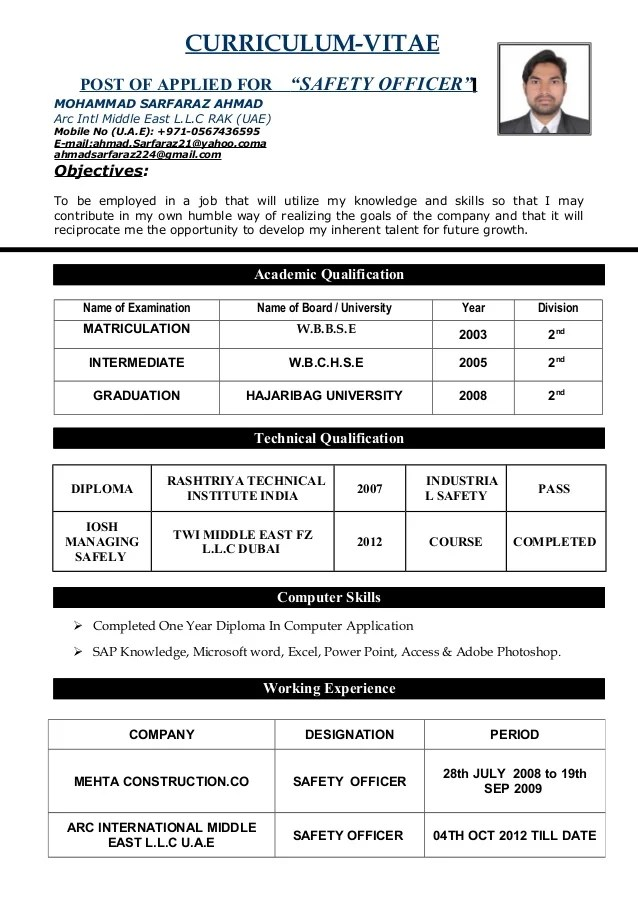 fire safety officer resume - Onwebioinnovate - Fire Training Officer Sample Resume
