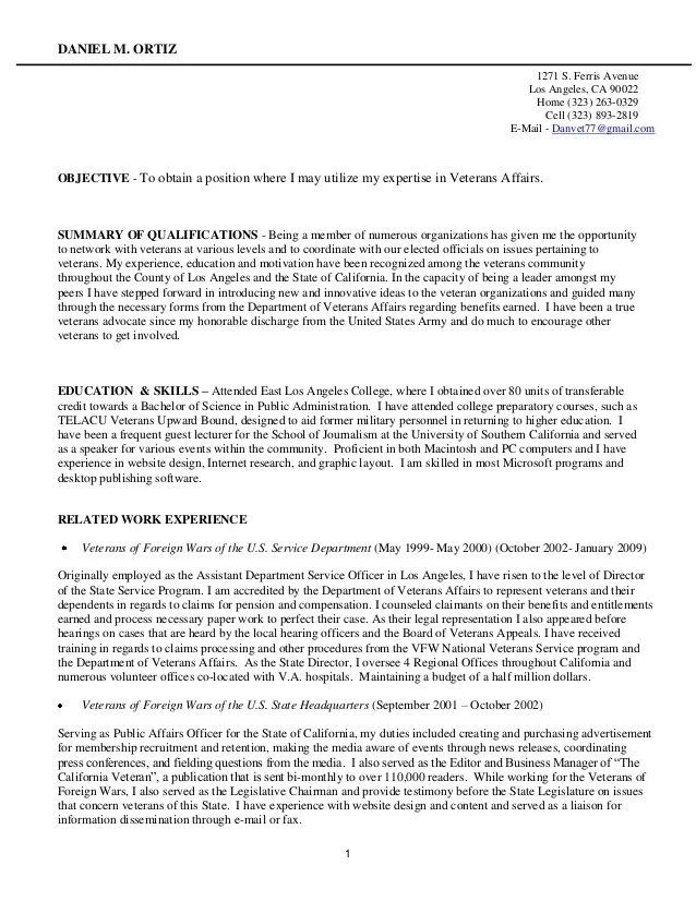 resume for veterans - Funfpandroid