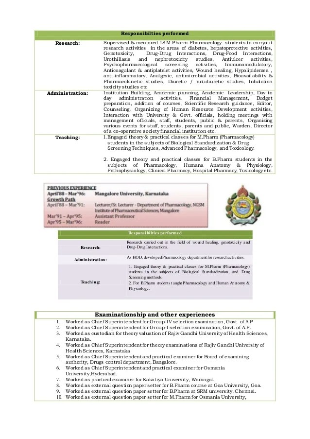 resume format for pharmacy freshers pharmacist resume format for