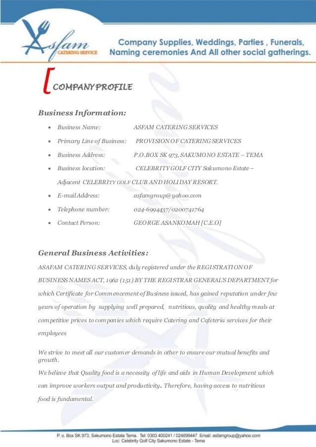Sample Company Profile For Small Business Pdf | Bio Data Maker