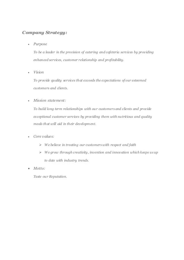 Sample Business Proposal For Catering Services | Cover Letter Of