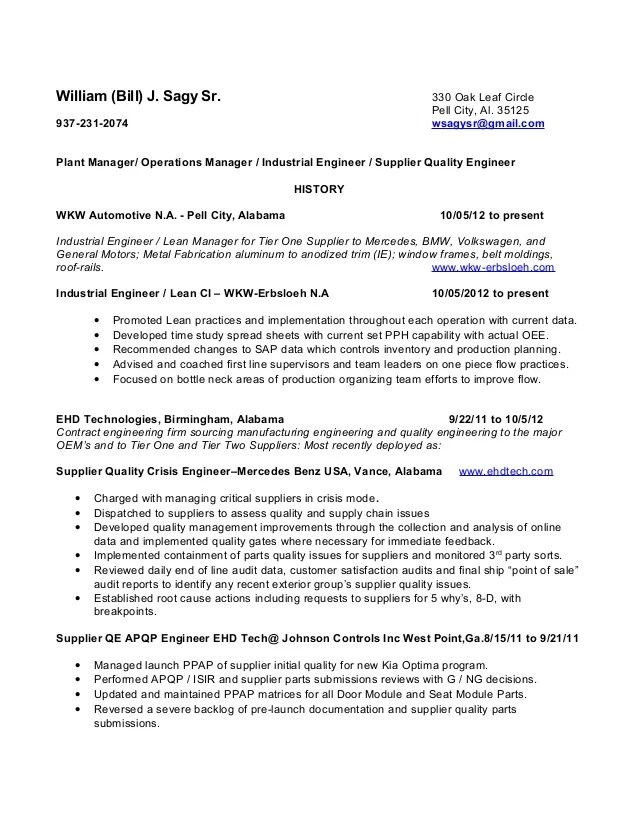 supplier quality engineer resume - Onwebioinnovate - supplier quality auditor sample resume