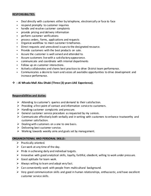 sales associate responsibility - Minimfagency
