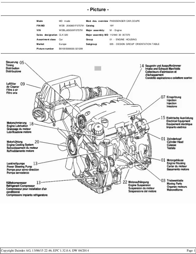 mercedes c240 engine diagram