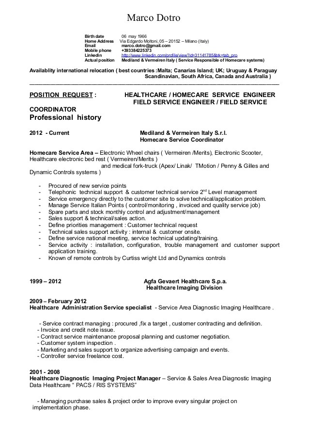english technical cv