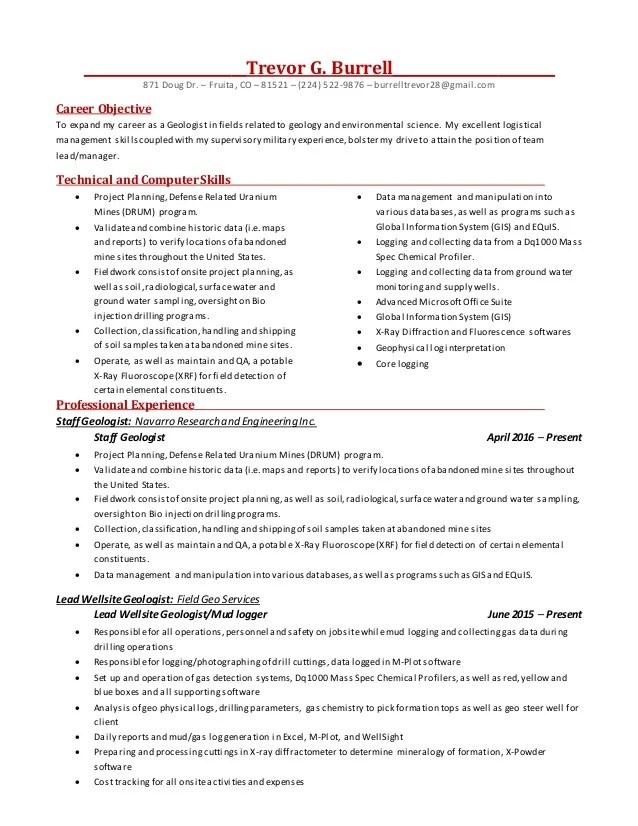 geology resume - Onwebioinnovate