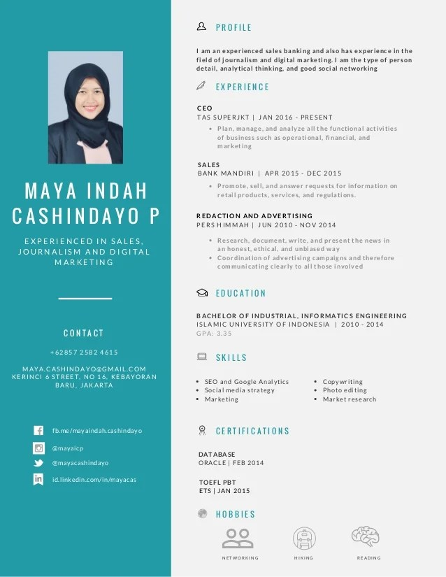 cv canva template