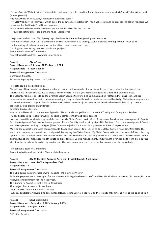Asp Net Resume For Experienced Sample Resume For Dot Net Developer Experience 2 Years