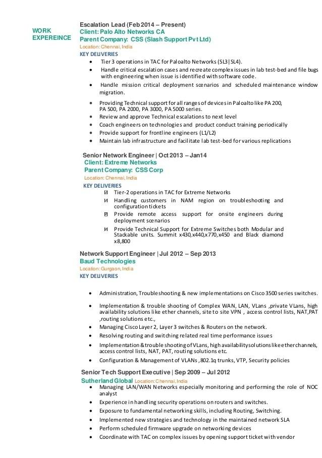 Networking Skills Resume - Contegri - networking skills resume