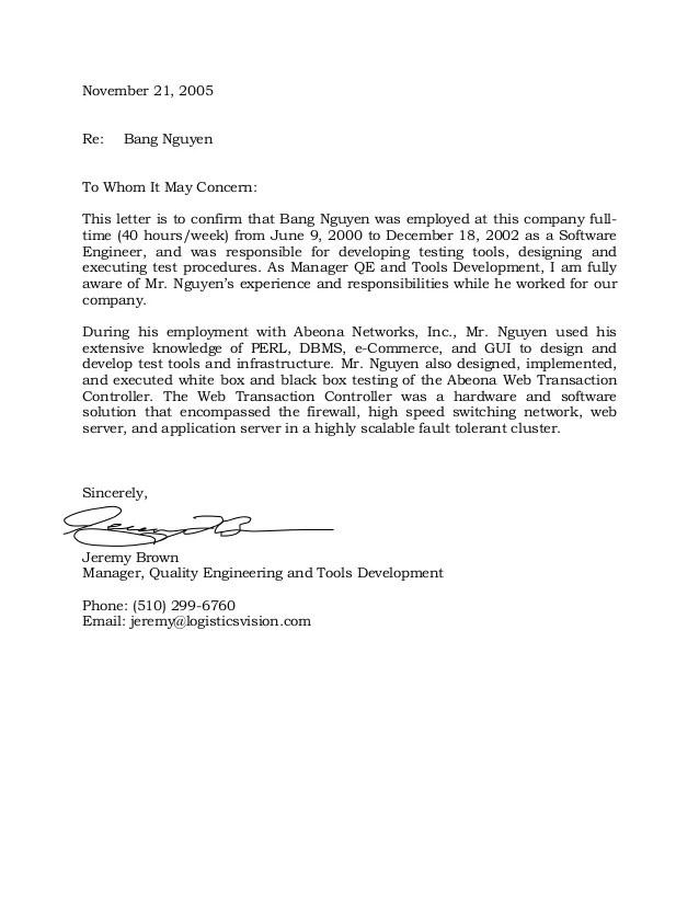 letter for employment verification - Mavij-plus