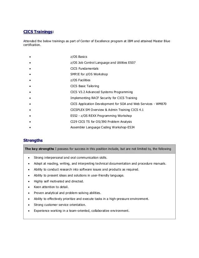 system programmer resume - Thevillas