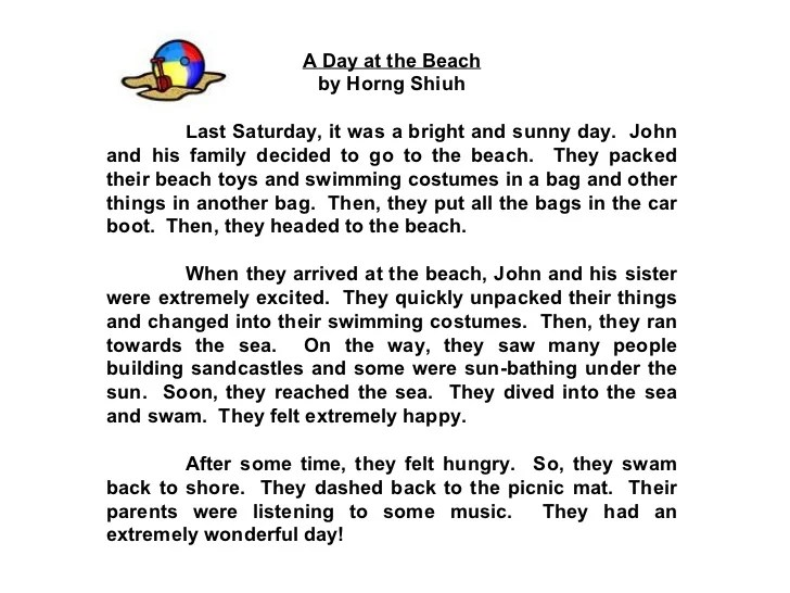 Star Compositions A Beach Outing Read Your Friends39 Compositions An