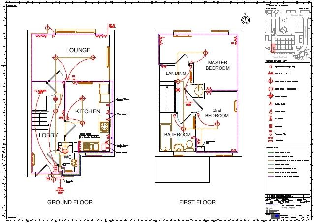 home electrical wiring diagram blueprint