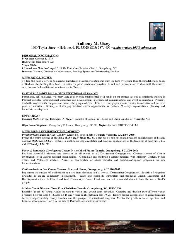 pastoral resumes - Funfpandroid - sample pastoral resume